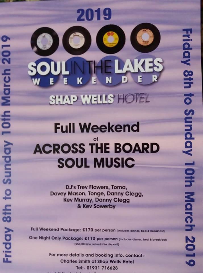 Soul In The Lakes Weekender flyer