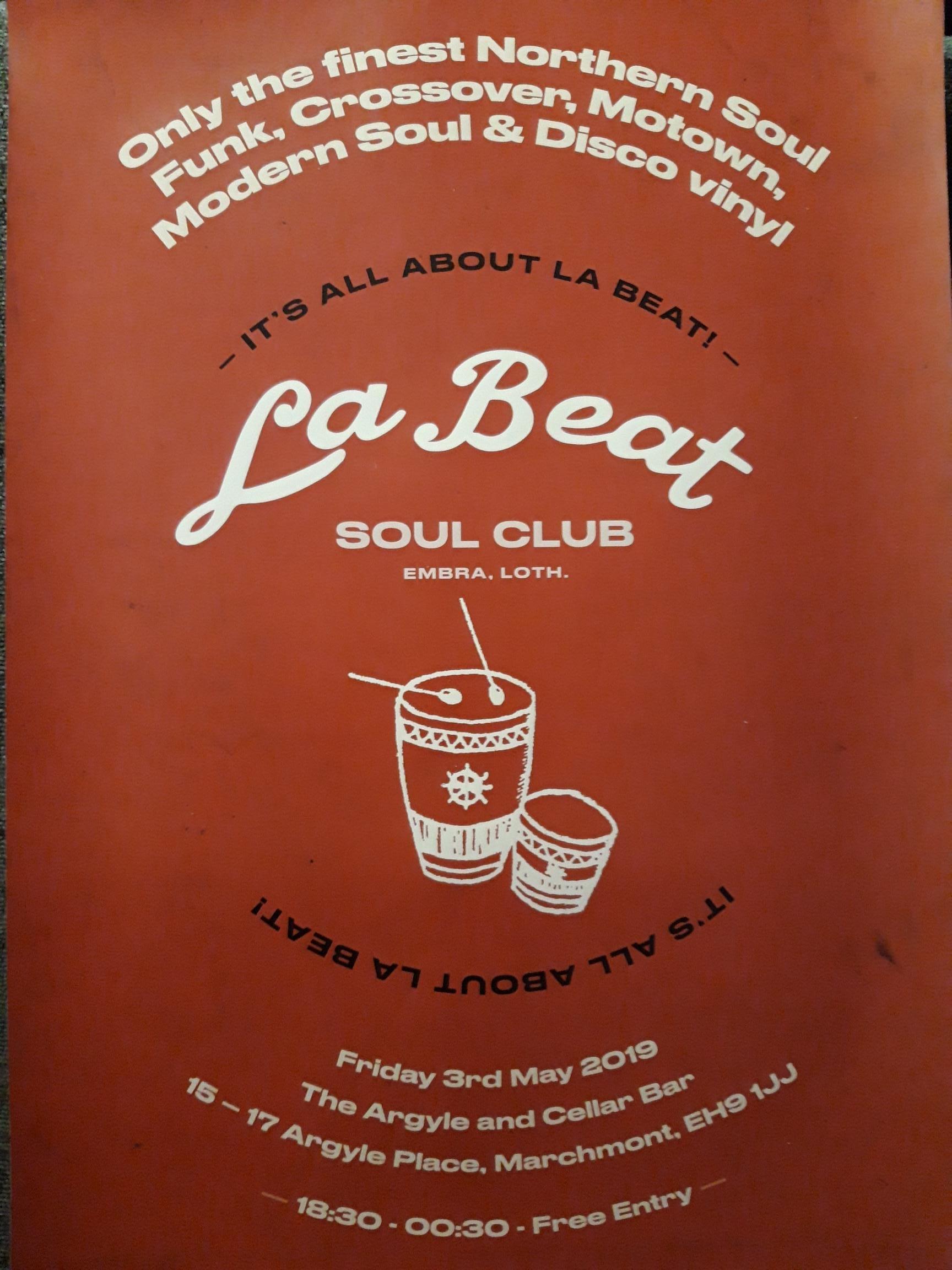 La Beat Soul Club flyer