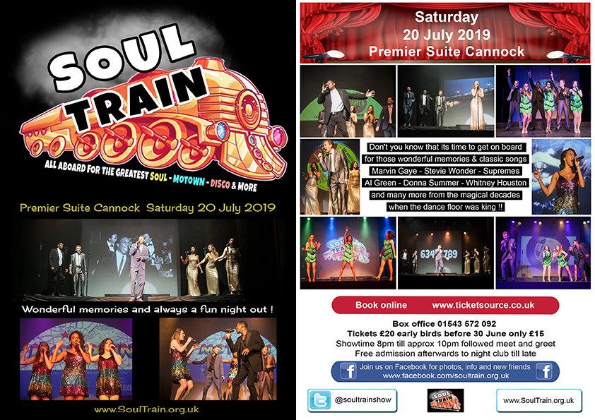 Soul Train Show flyer