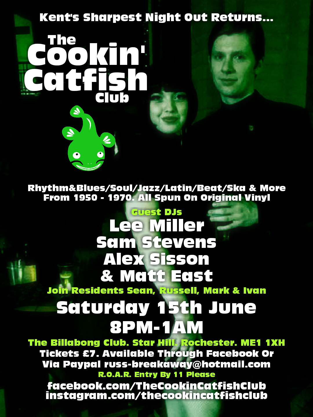 The Cookin Catfish Club flyer
