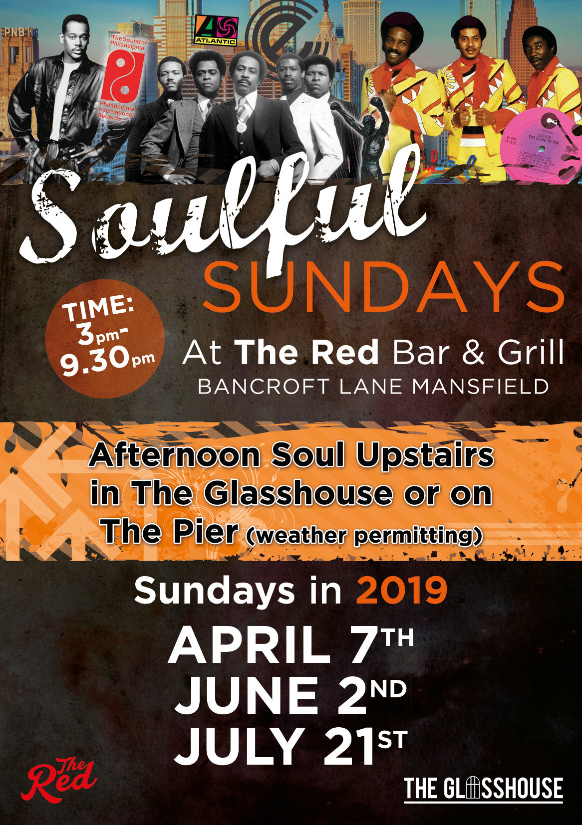The Red Soulful Sundays flyer