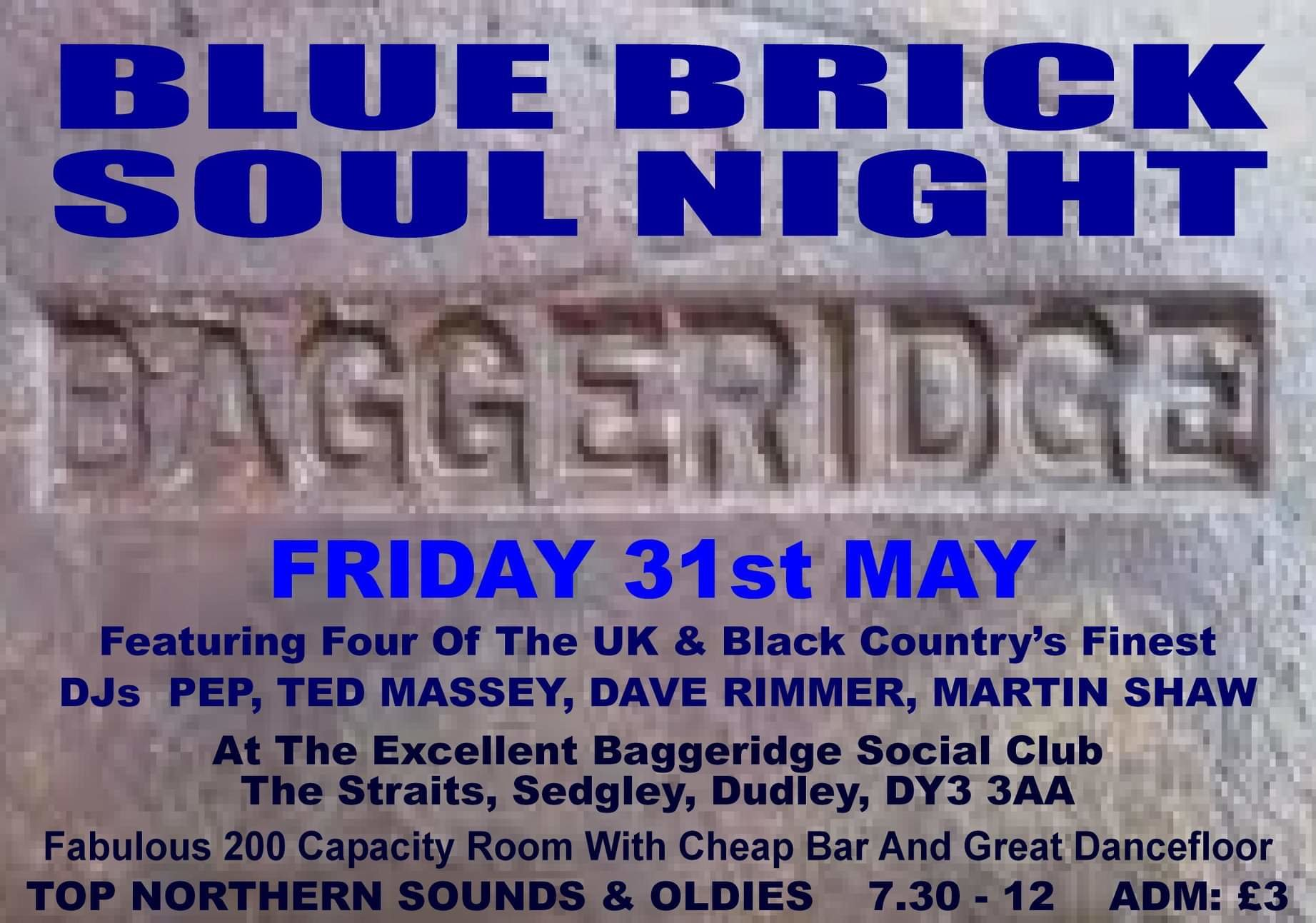 Baggeridge Soul Night flyer