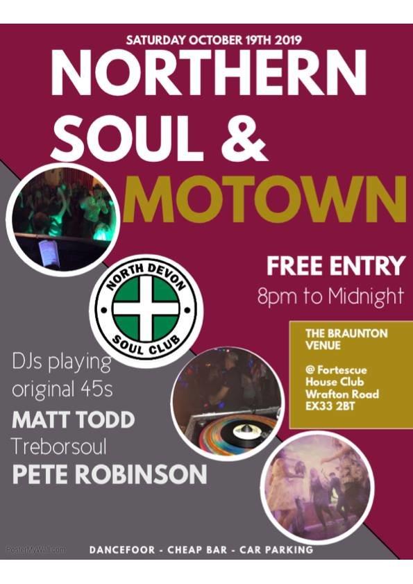 Northern Soul  Motown  North Devon flyer
