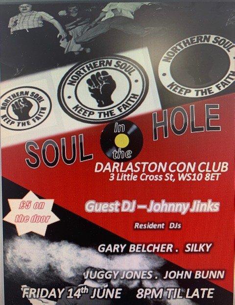 Soul In The Hole Darlaston flyer