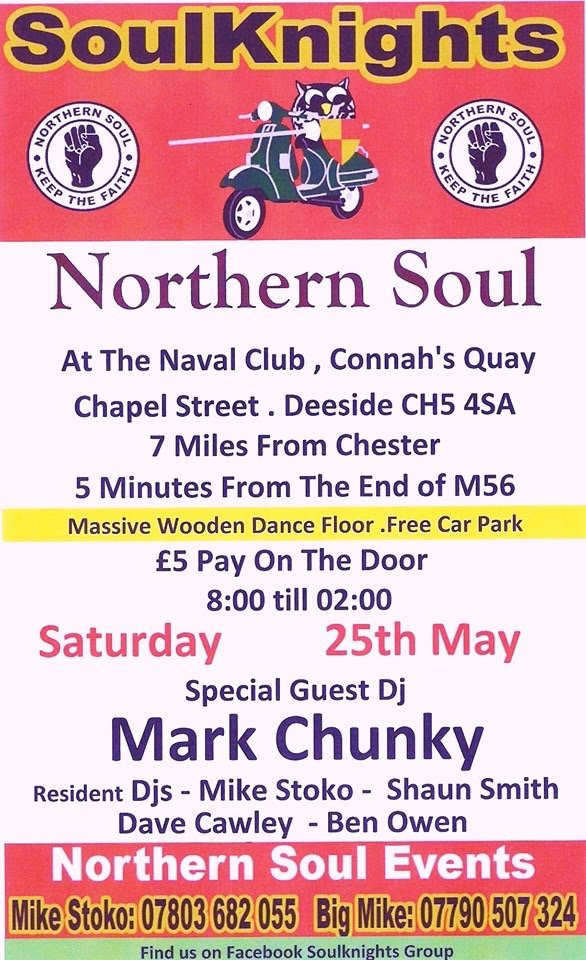 Soulknights Monthly Event Special Guest Mark Chunky flyer