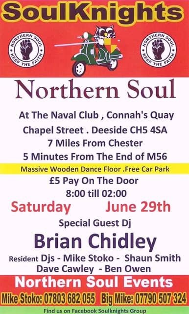 Soulknights Monthly Event Guest Brian Chidley flyer