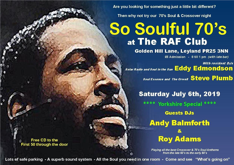 So Soulful 70s flyer