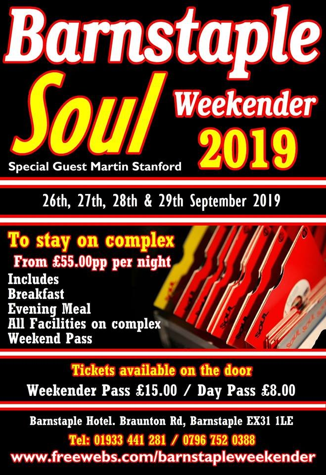 Barnstaple Soul Weekender 2019 flyer