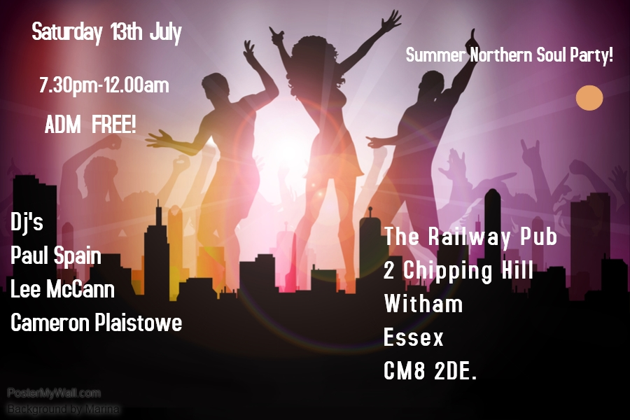 Summer Northern Soul Party flyer