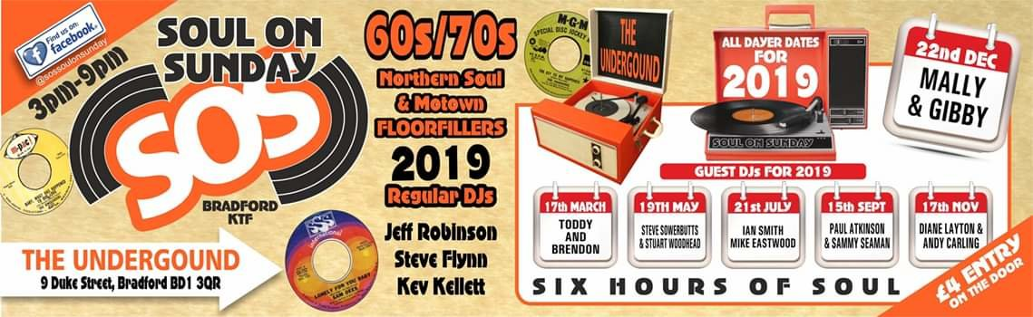 The Underground Sos Soul On Sunday flyer