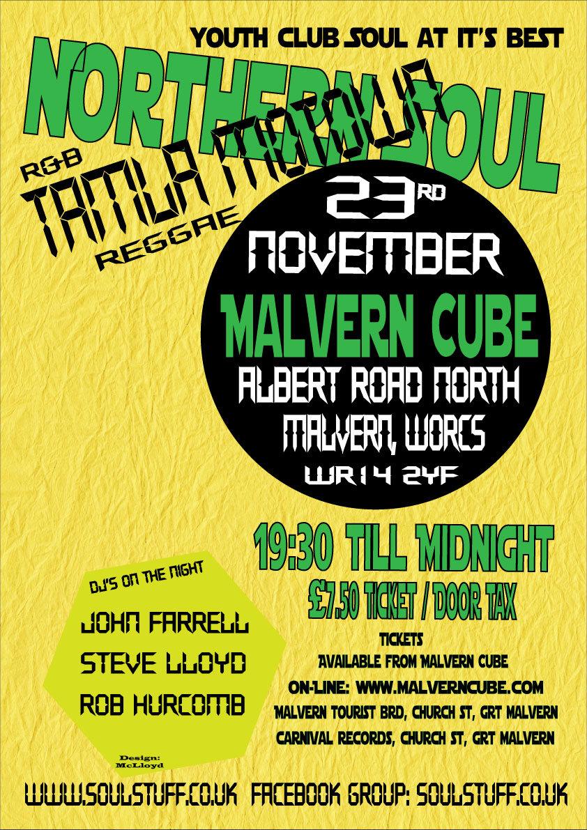 Oldies Nite Motown  Northern  Great Malvern flyer