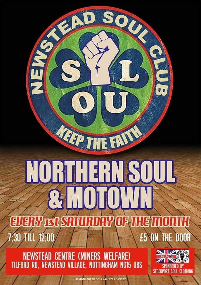 Newstead Soul Club 5 Guest Djs And Resident flyer