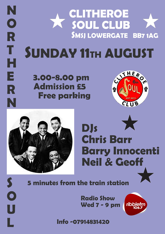 Clitheroe Soul Club flyer