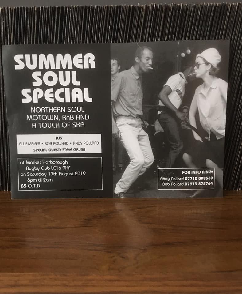 Market Harborough Summer Soul Nite flyer