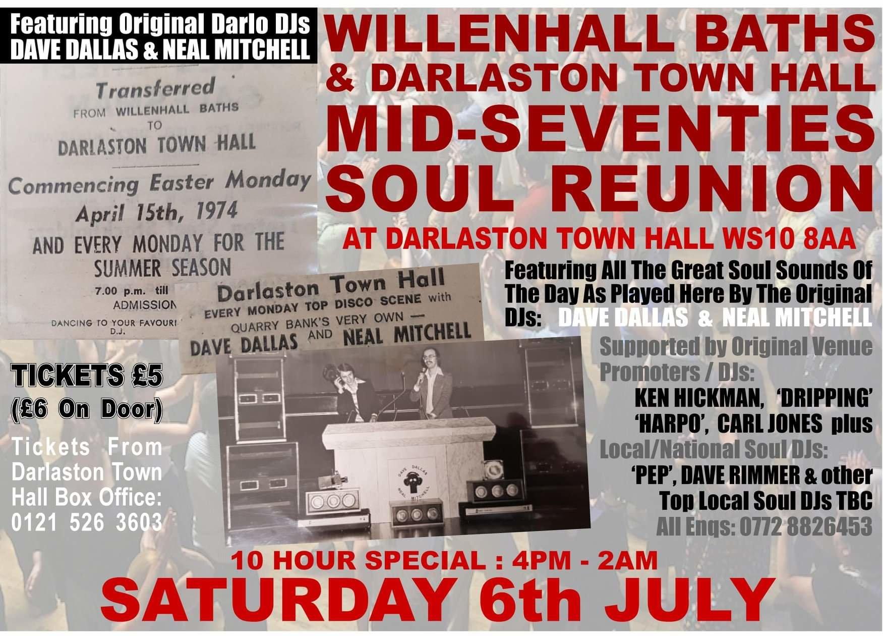 Willenhall Baths  Darlo Town Hall Reunion flyer