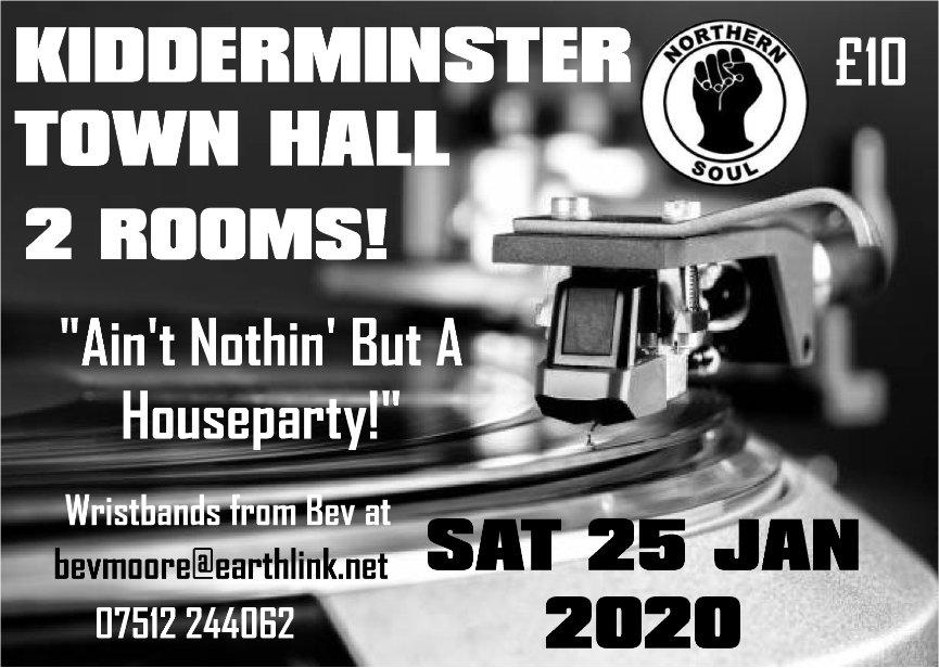 New Event  Kidderminster Town Hall flyer