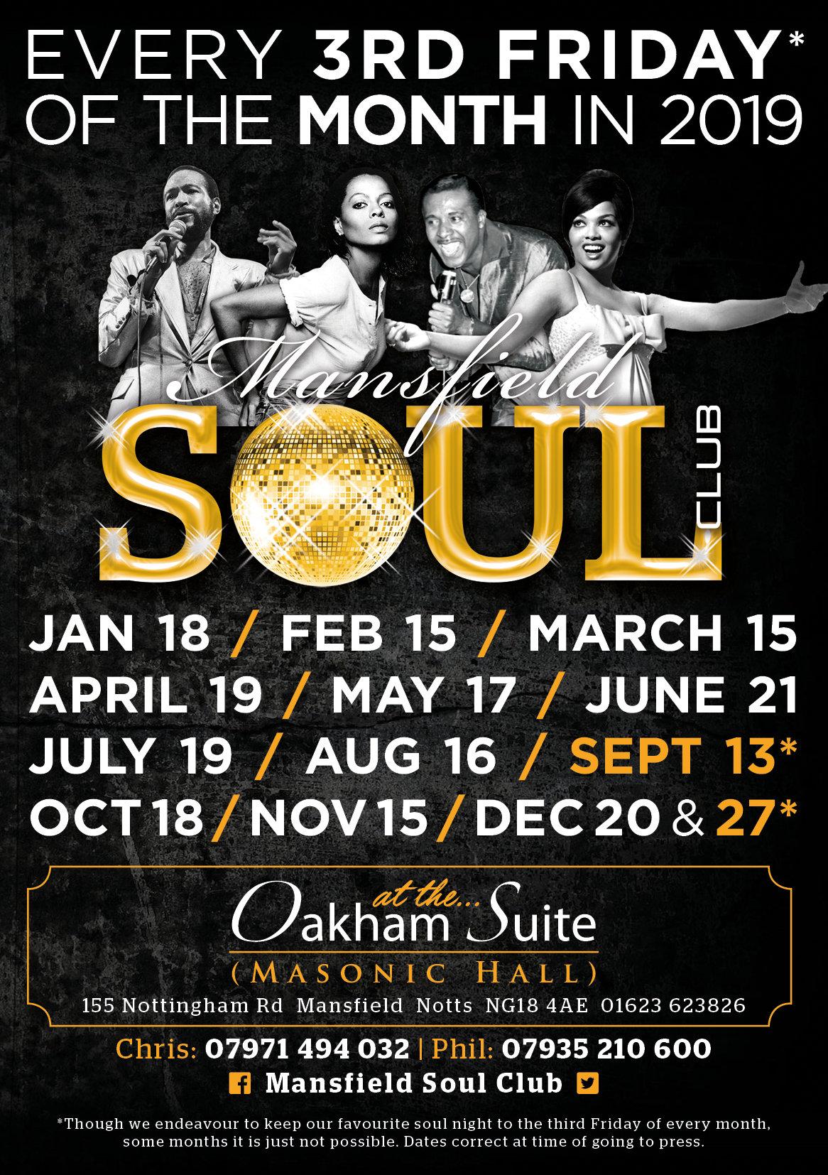 Mansfields Big Soul Night flyer