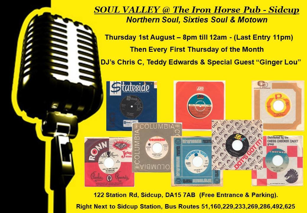 Soul Valley  The Iron Horse Pub flyer