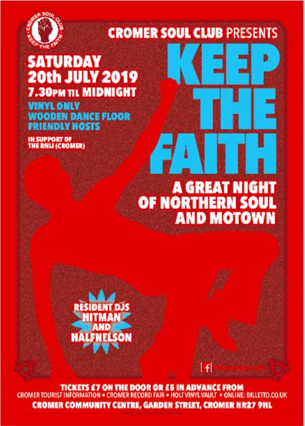 Cromer Soul Club  Keep The Faith flyer