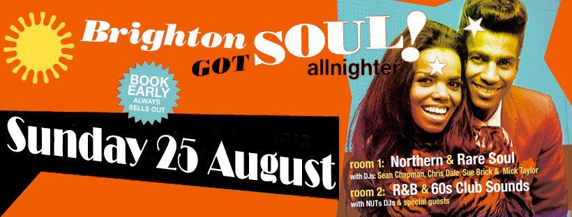 Brighton Got Soul Allnighter 2019 flyer