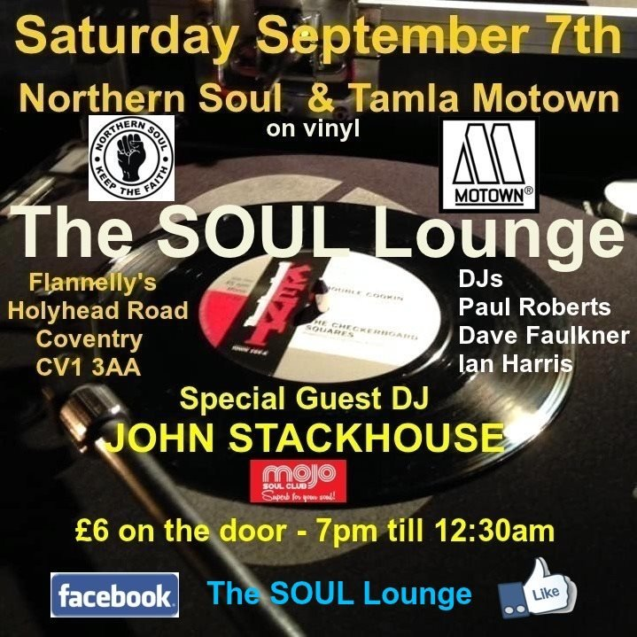 The Soul Lounge Flannellys  Coventry flyer