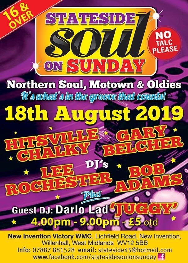Stateside Soul On Sunday flyer