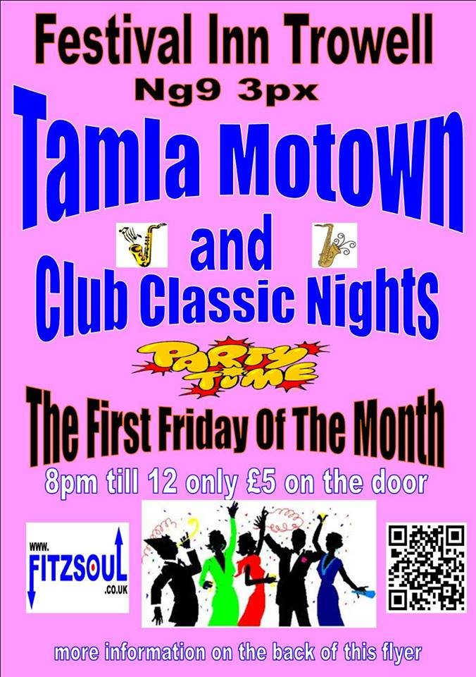 Tamla Motown  60s 70s Club Classic Night Party Time flyer
