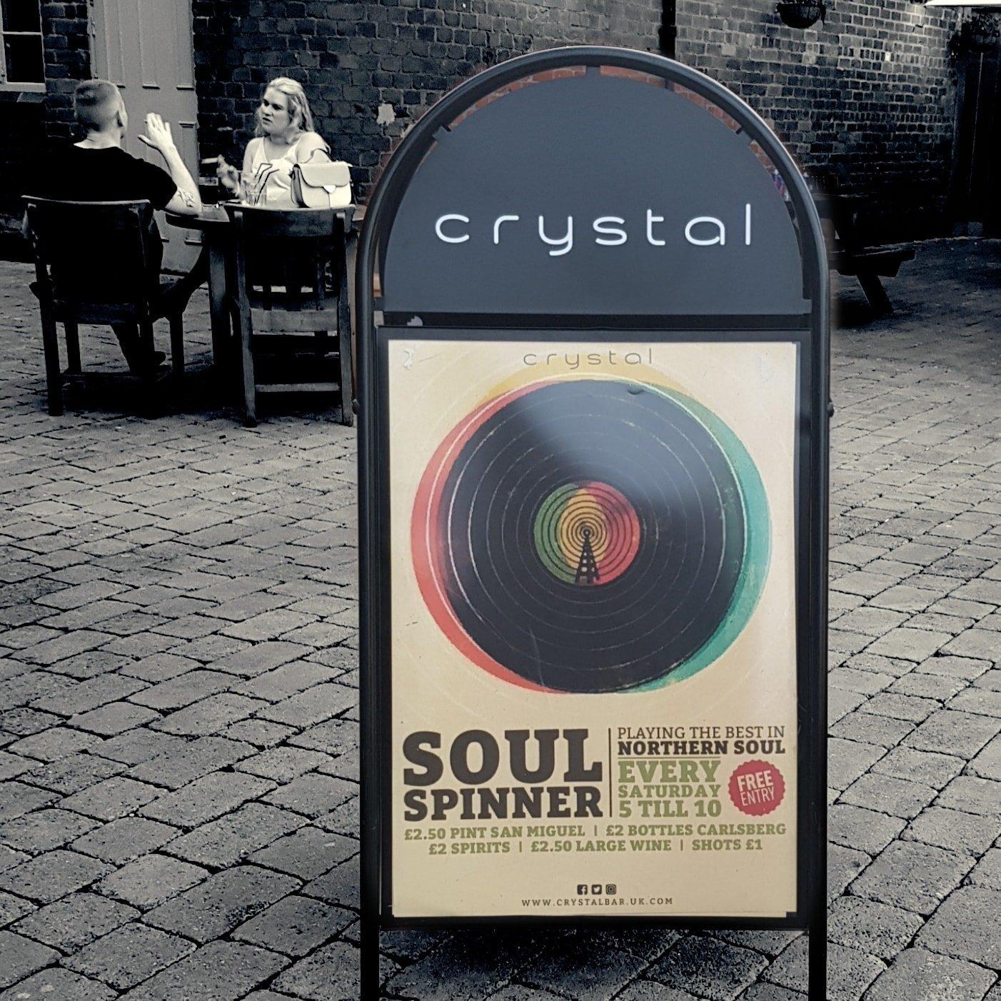 Soul Spinner Bank Holiday Sunday   Crystal  Sheffield flyer