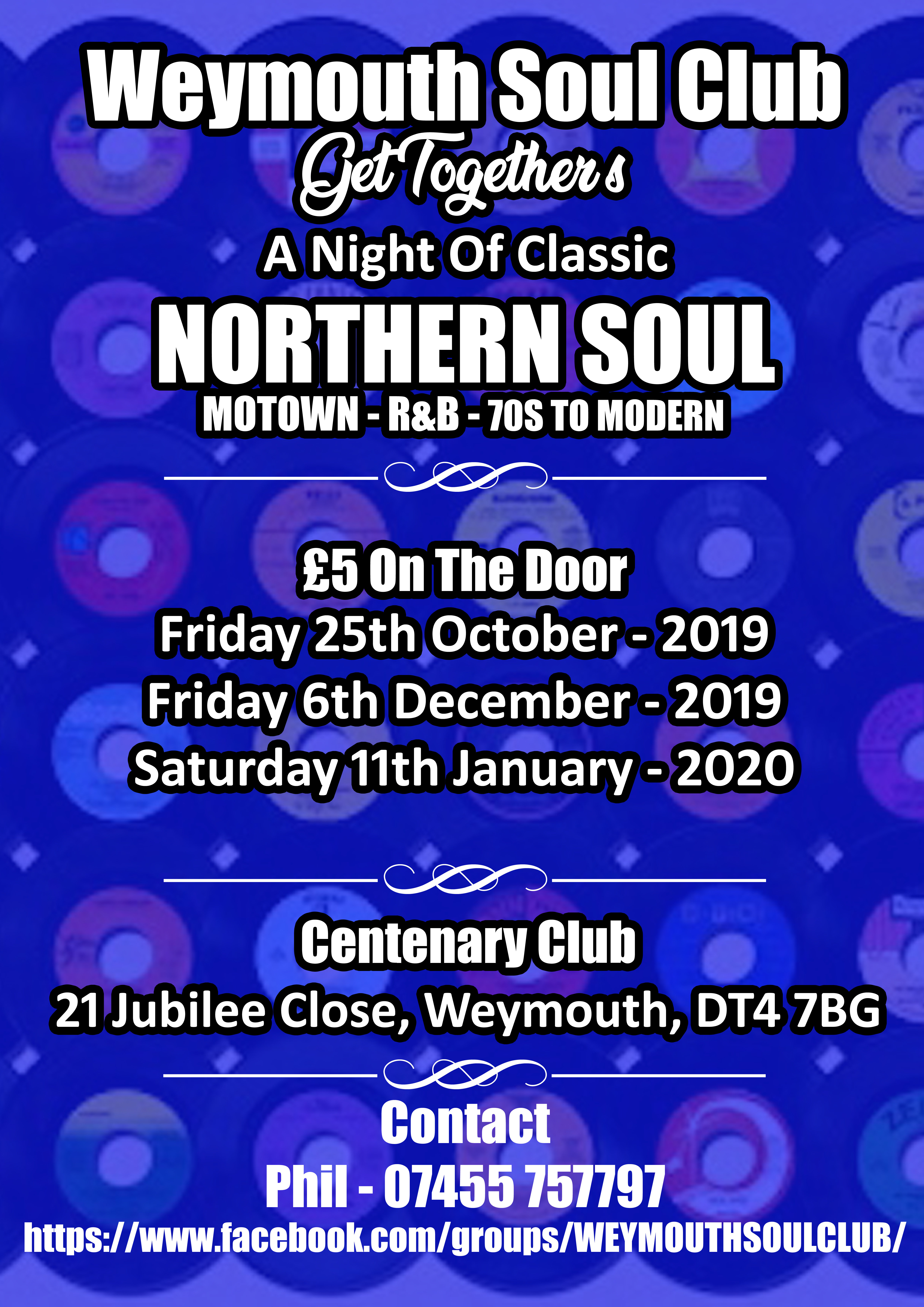 Weymouth Soul Club Get Togethers flyer