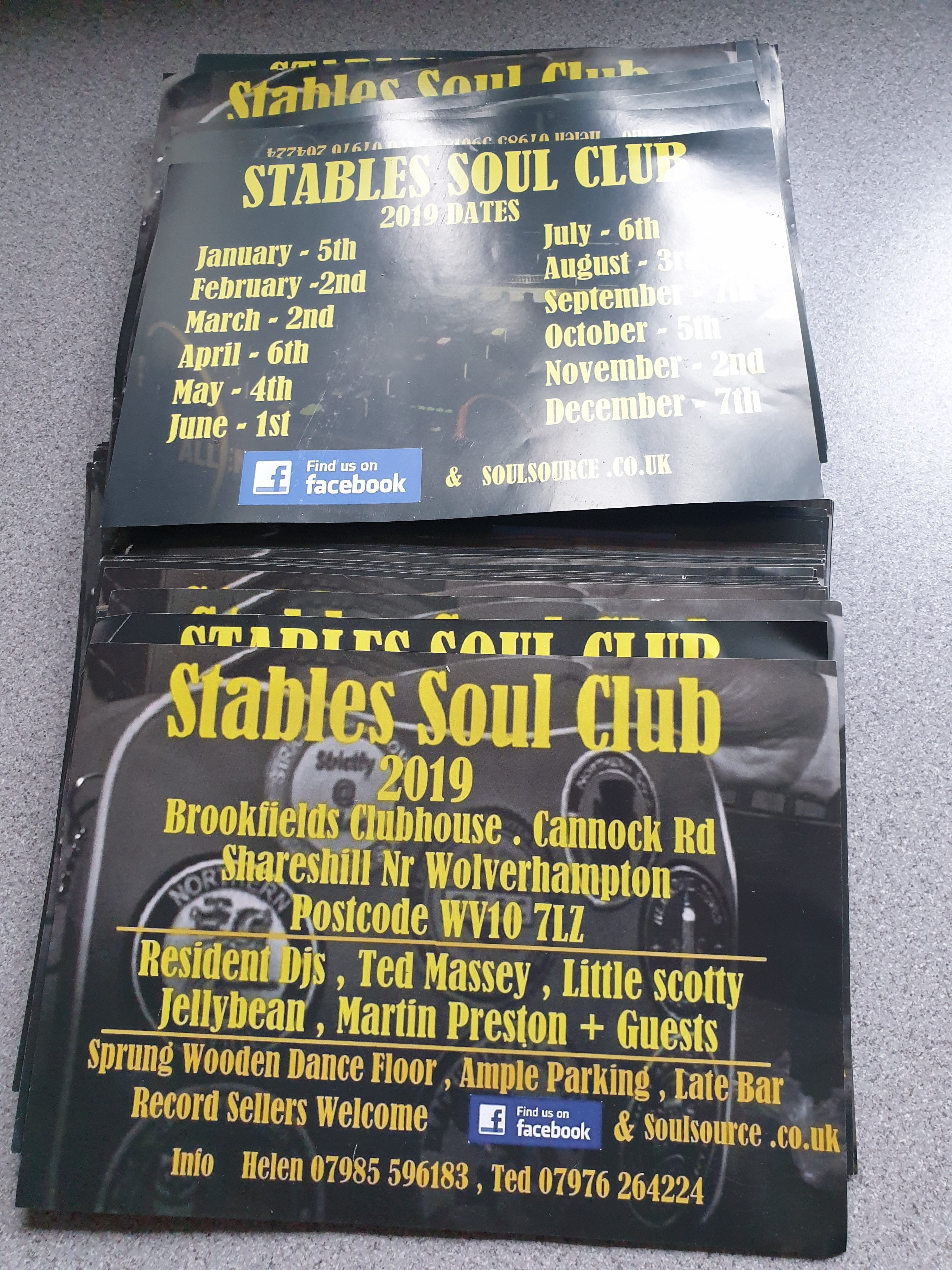 Stables Soul Club flyer
