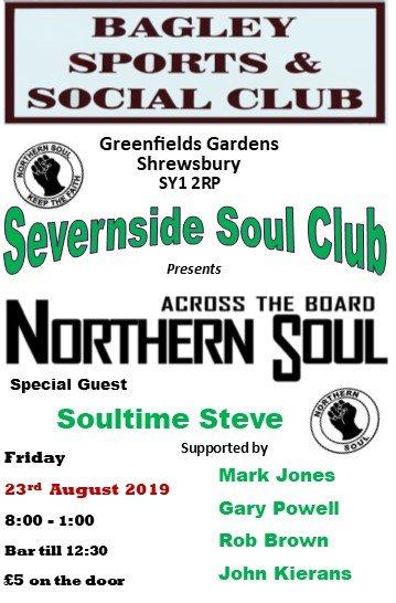 Severnside Soul  The Bagley flyer