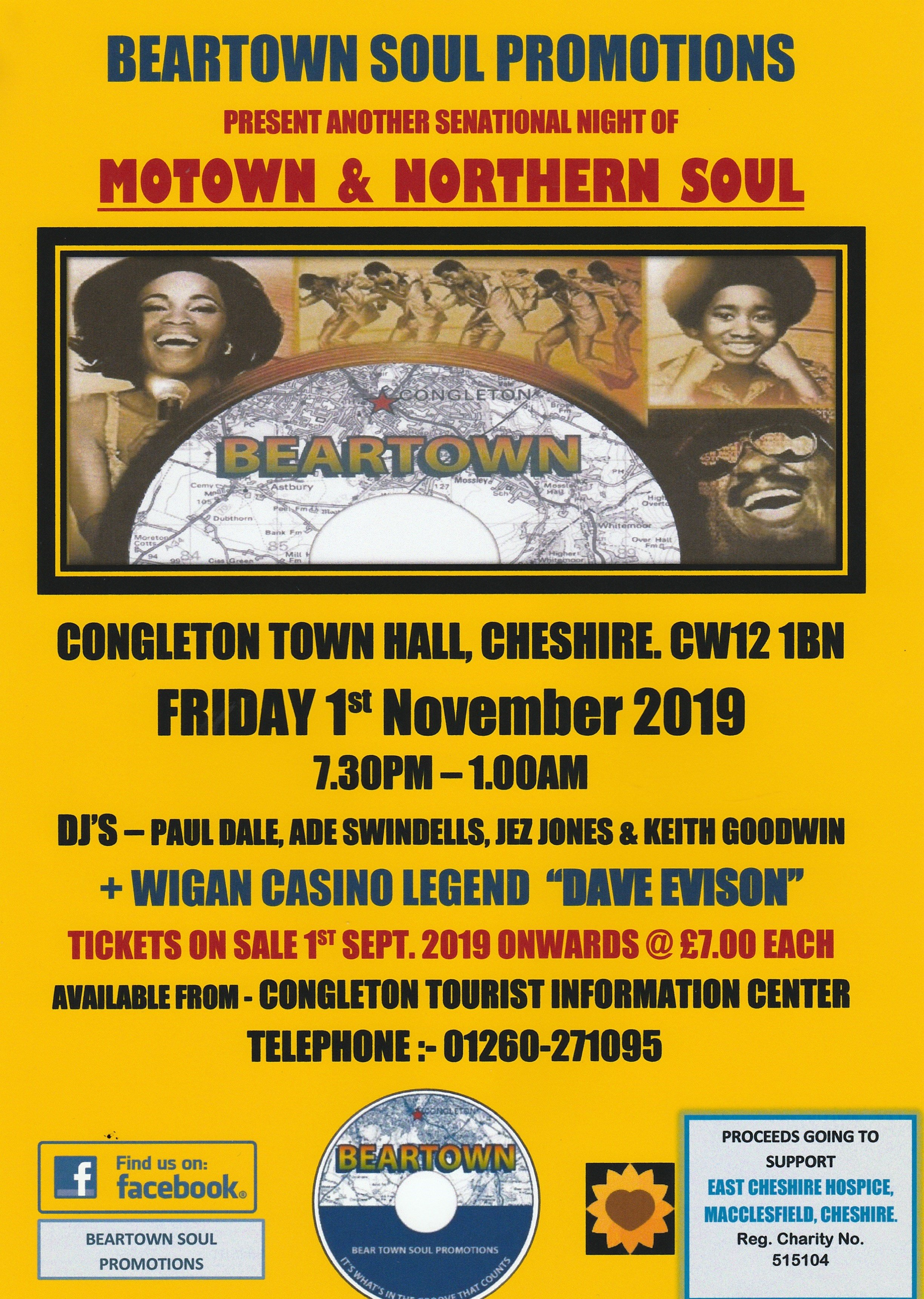 The Original  Big Soul Night Out  Congleton Town Hall flyer