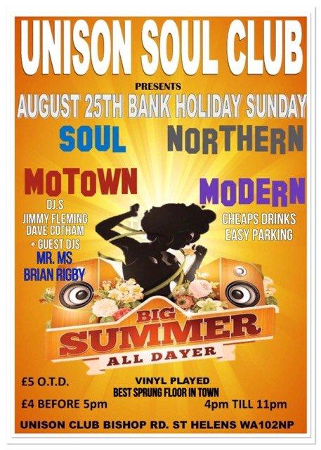 St Helens Soul Alldayer flyer