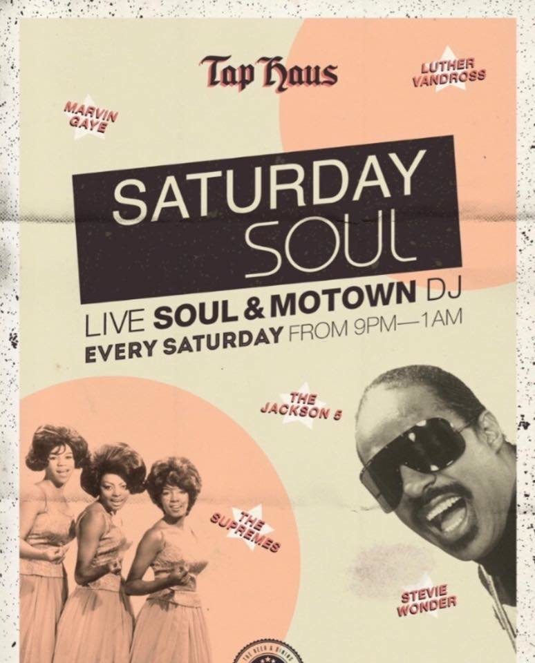 Saturday Soul And Motown flyer