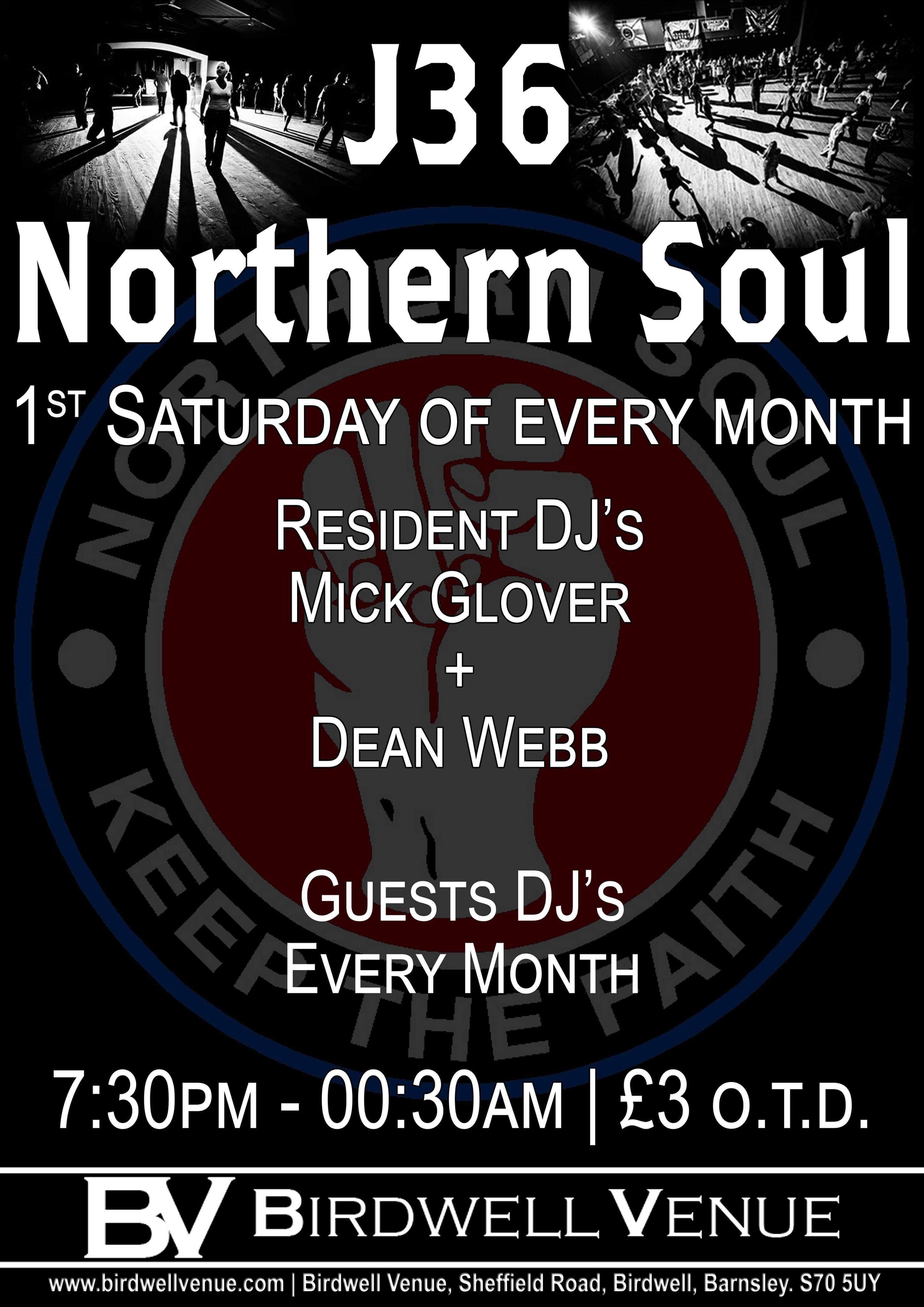 Junction 36 Soul Club Barnsley flyer