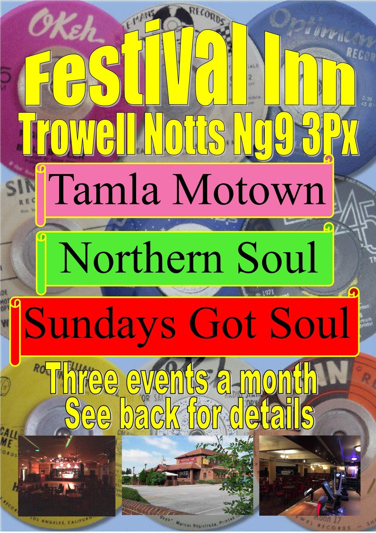 Sundays Got Soul Northern Soul  Motown flyer