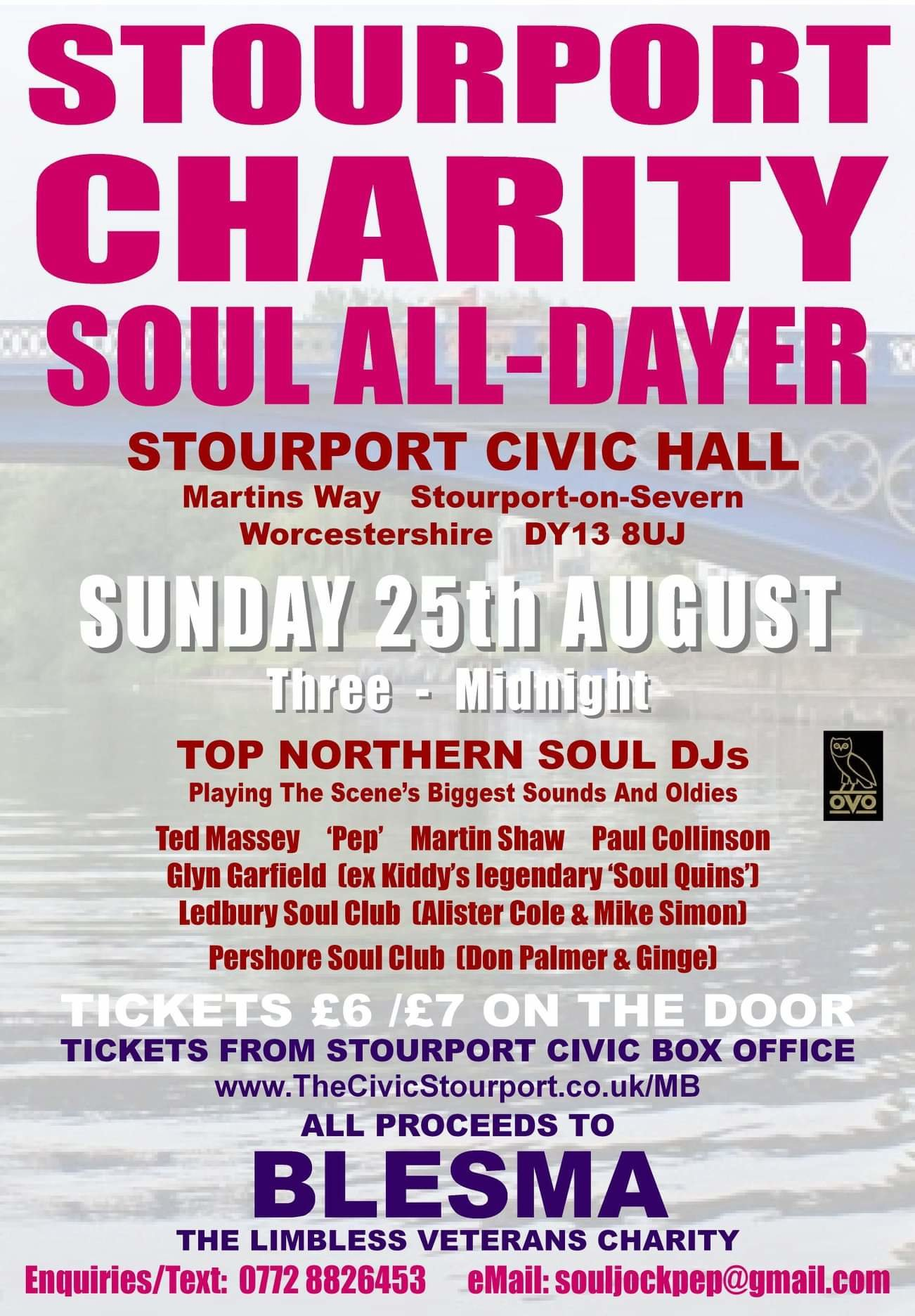 Stourport B L E S M A Charity Alldayer flyer
