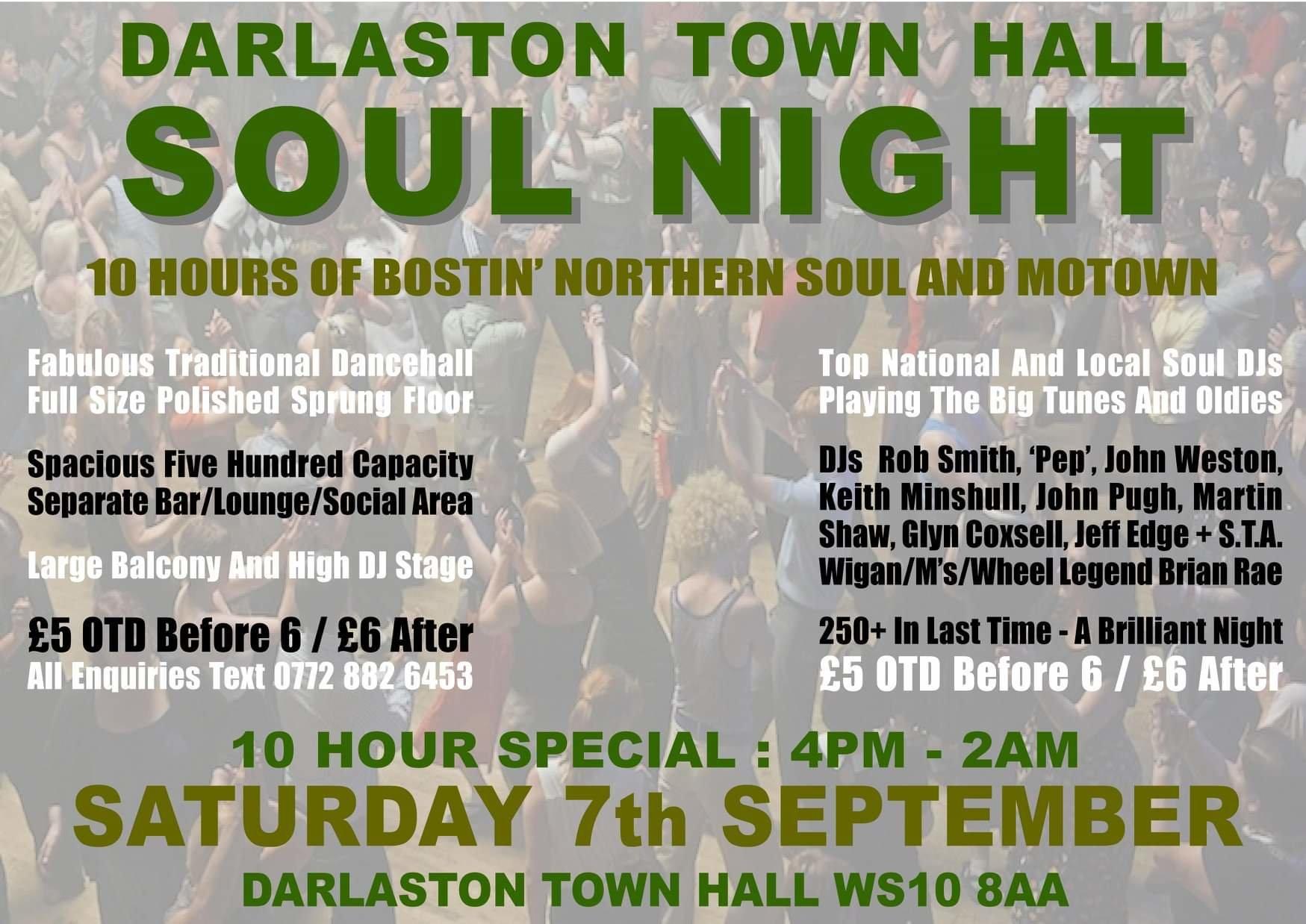 Darlaston Allday Soul Extravaganza flyer