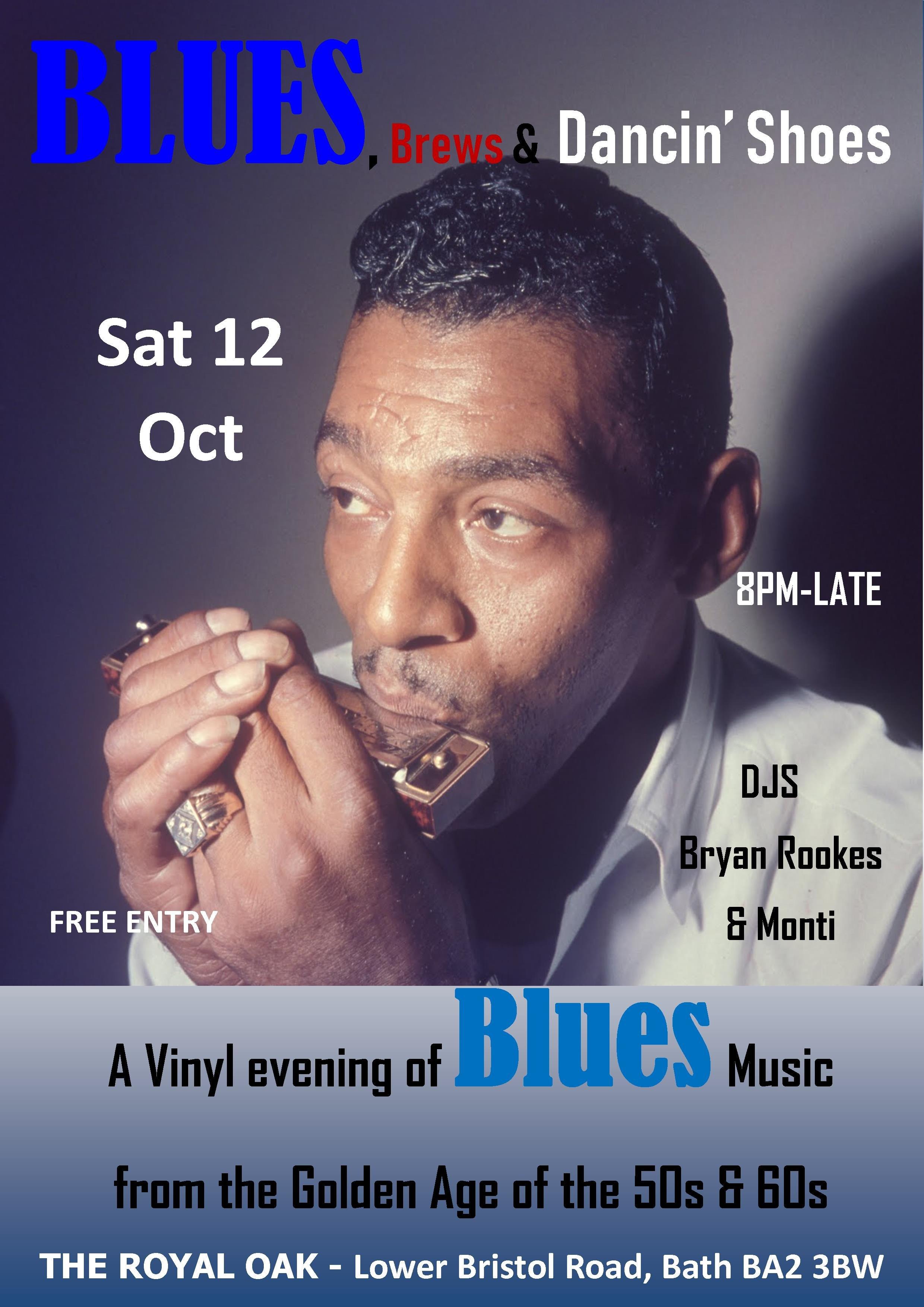 Blues Brews  Dancin Shoes  Royal Oak Bath flyer