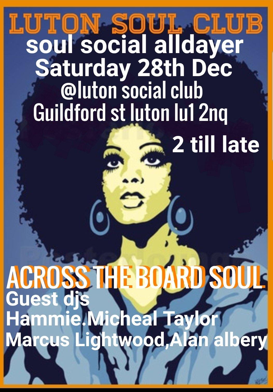 Luton Soul Club Special flyer
