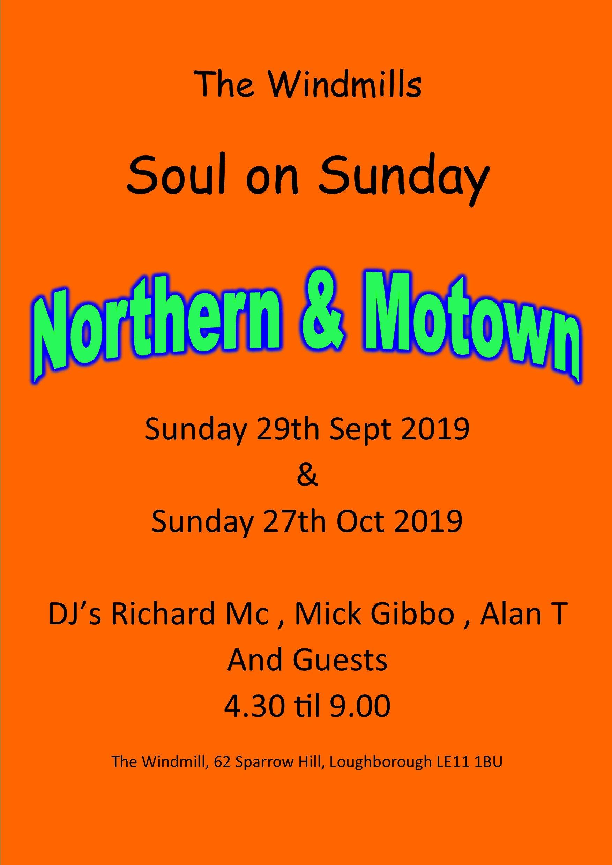 Soul On Sunday flyer