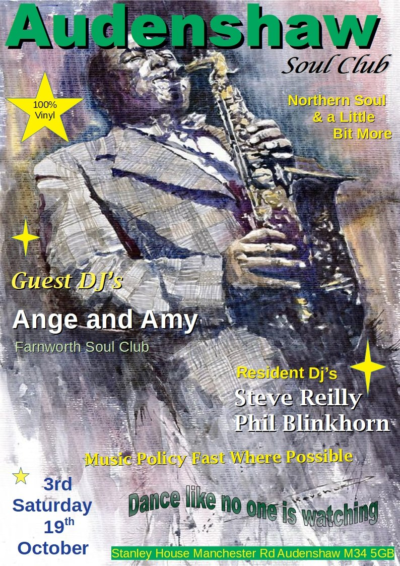 Audenshaw Soul Club Manchester flyer
