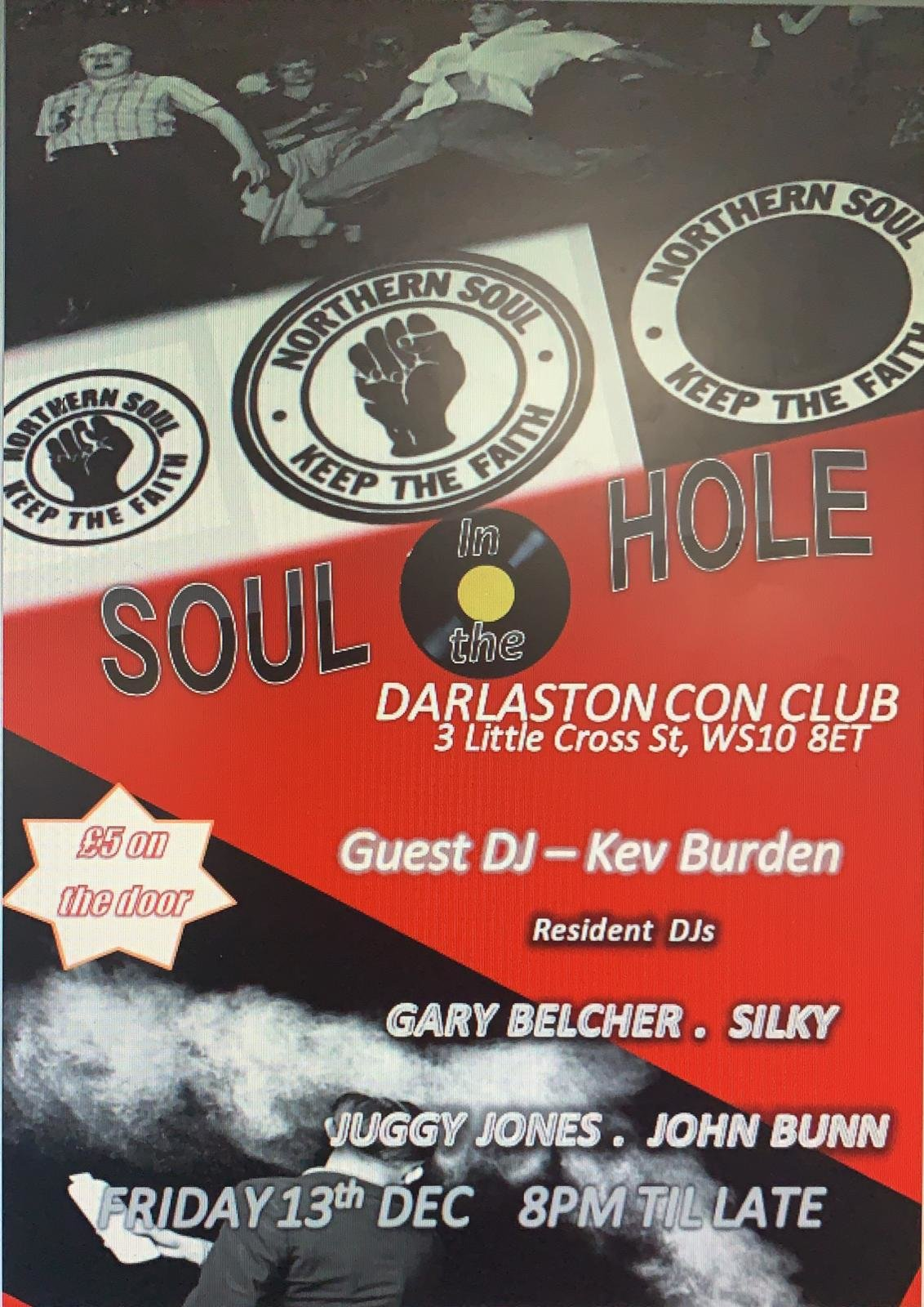 Soul In The Hole flyer