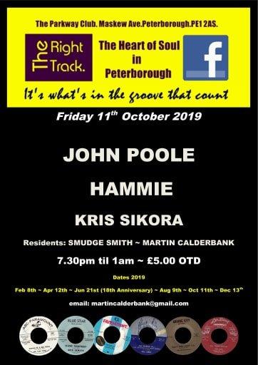 The Right Track Peterborough John Pool  Hammie flyer