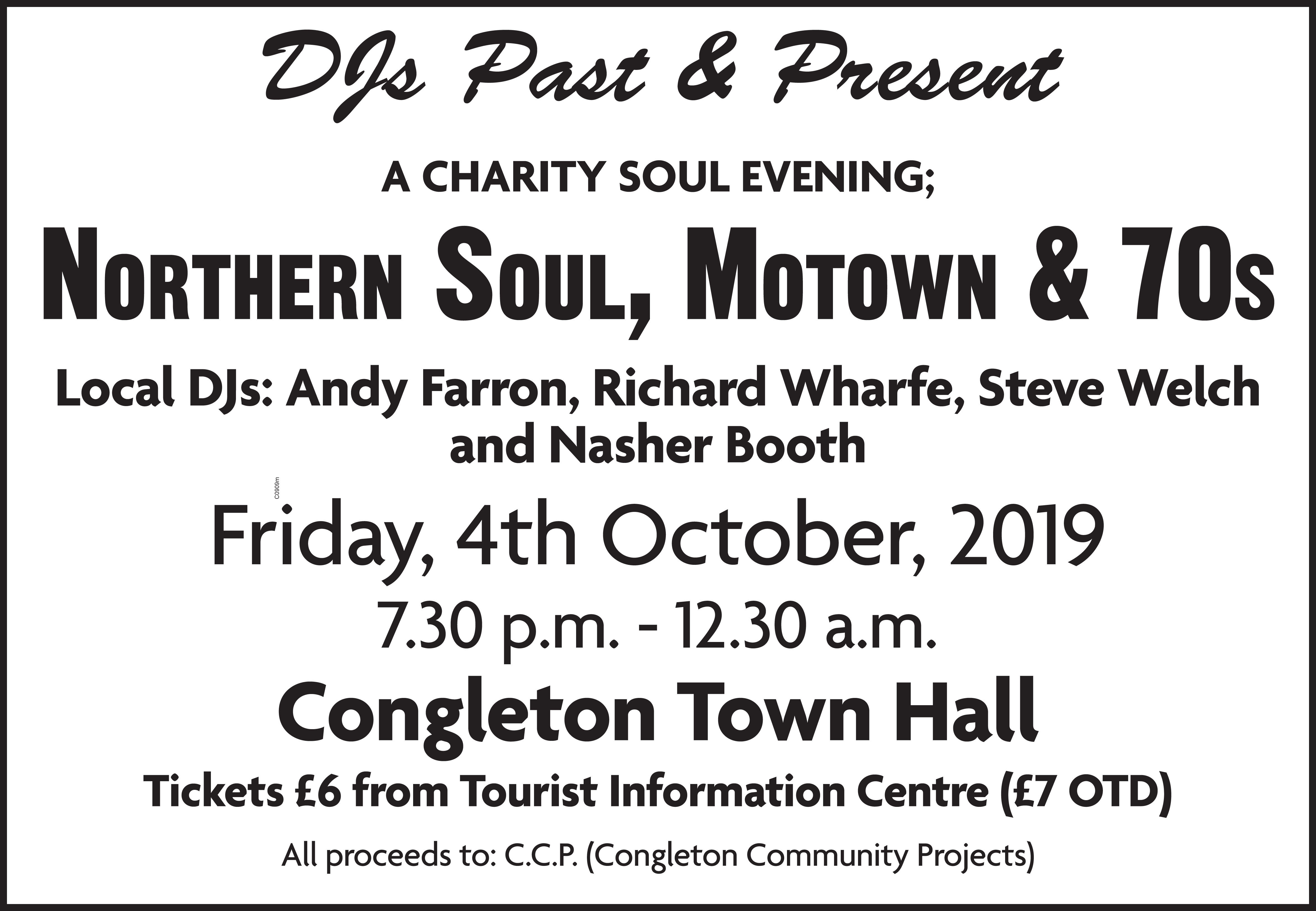 Northern Soul  Motown Fundraiser At Cth flyer