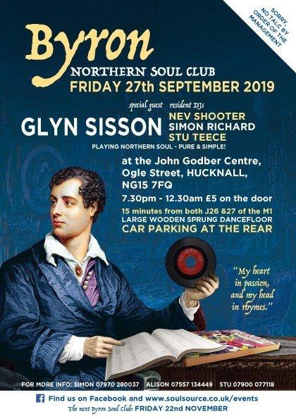 Byron Northern Soul Club flyer