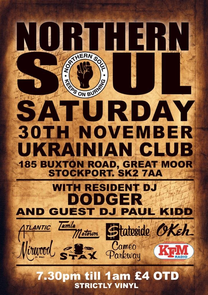 Northern Soul The Ukrainian Club Stockportstockport flyer