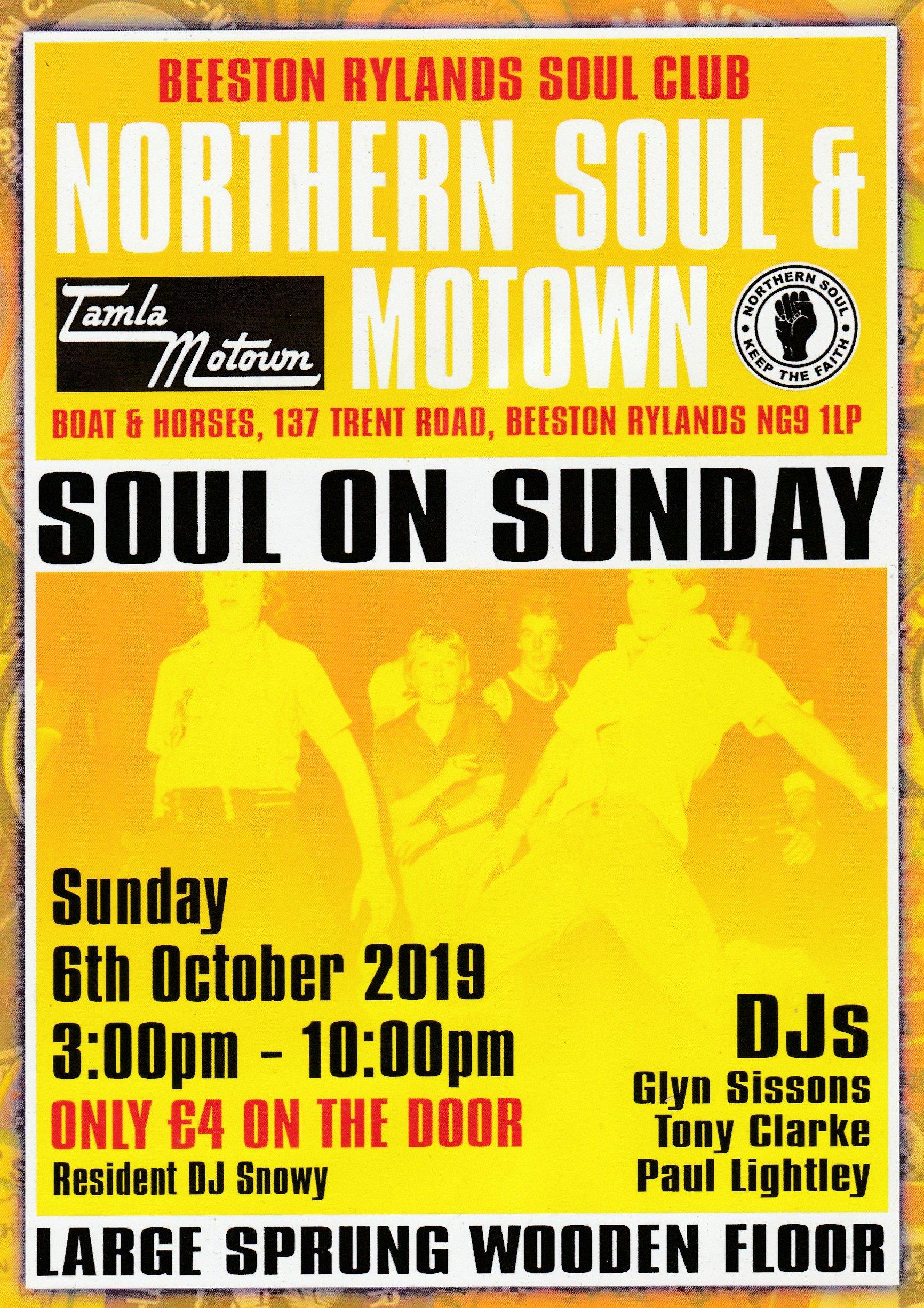 Beeston Rylands Northern Soul  Motown flyer