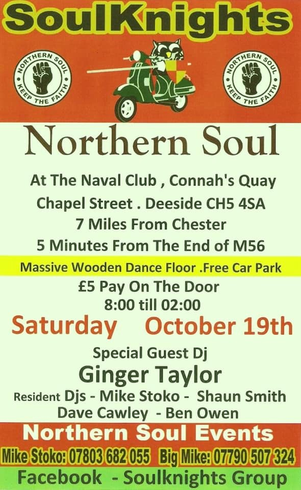 Soulknights With Ginger Taylor flyer
