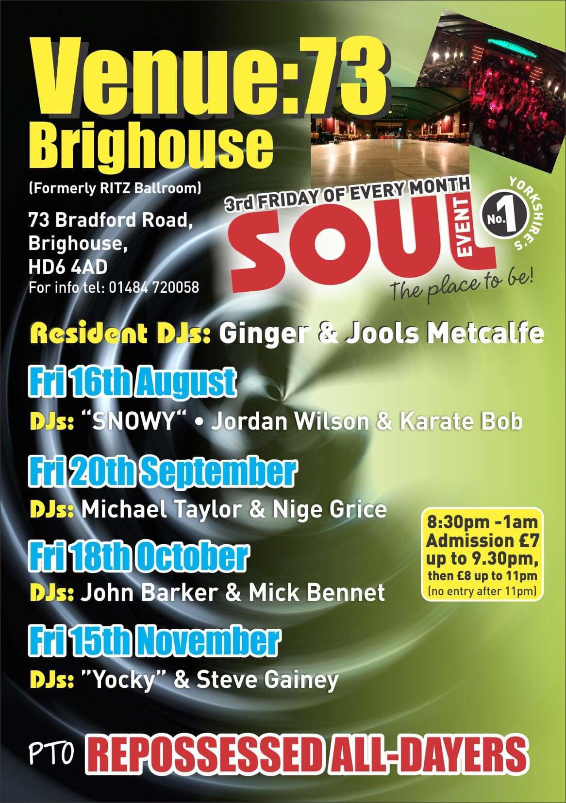 Venue 73  Formerly Brighouse Ritz  flyer